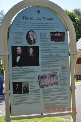 The Maney Family Marker image. Click for full size.