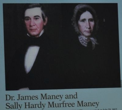 Dr. James Maney and Sally Hardy Murfree Maney image. Click for full size.