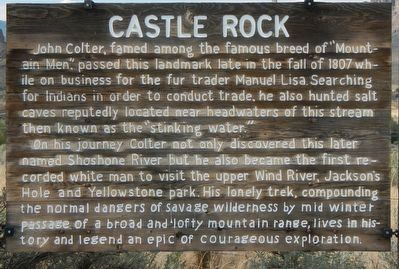Castle Rock Marker image. Click for full size.