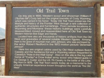 Old Trail Town Marker image. Click for full size.