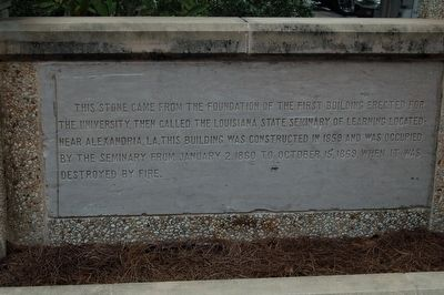 Louisiana State Seminary of Learning Foundation Stone Marker image. Click for full size.
