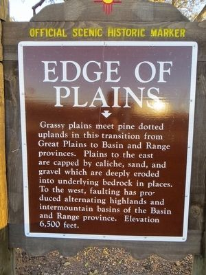 Edge of Plains Marker image. Click for full size.