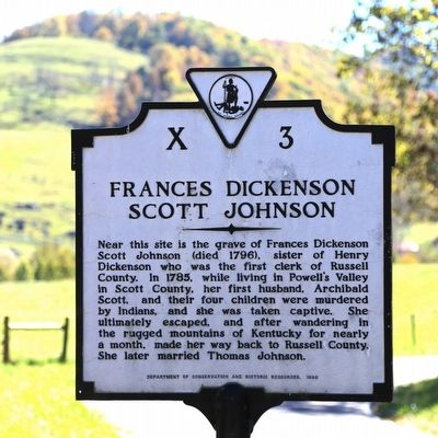 Frances Dickenson Scott Johnson Marker image. Click for full size.