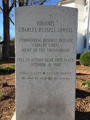 Colonel Charles Russell Lowell Marker Photo, Click for full size