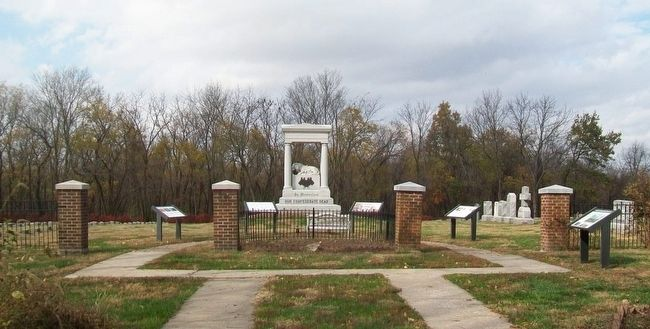 Markers at Confederate Memorial State Historic Site Cemetery Entrance image. Click for full size.