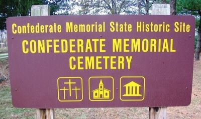 Confederate Home Cemetery Sign image. Click for full size.