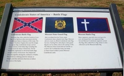 Confederate States of America - Battle Flags Marker image. Click for full size.