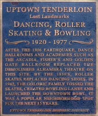 Dancing, Roller Skating & Bowling Marker image. Click for full size.