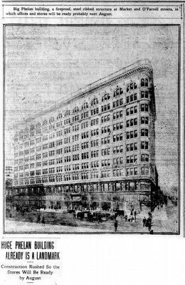 Huge Phelan Building Already is a Landmark image. Click for full size.