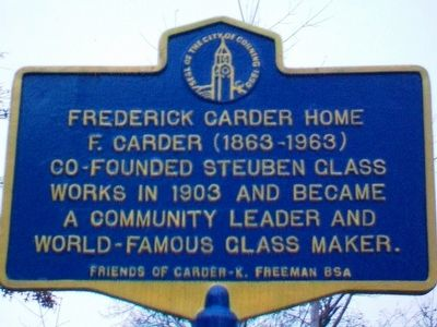 Frederick Carder Home Marker image. Click for full size.