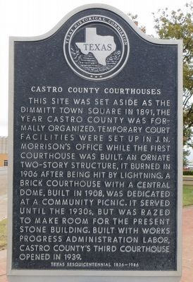 Castro County Courthouses Marker image. Click for full size.