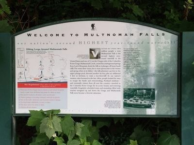 Welcome to Multnomah Falls Marker image. Click for full size.