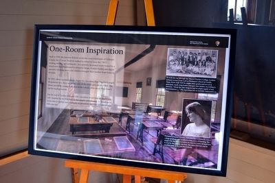 One-Room Inspiration Interpretive Sign image. Click for full size.