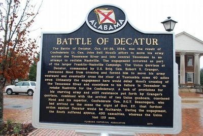 Battle of Decatur Marker image. Click for full size.