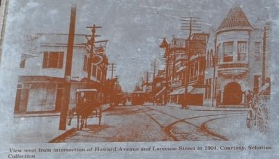 View west from intersection of Howard Avenue and Lameuse Street in 1904. image. Click for full size.