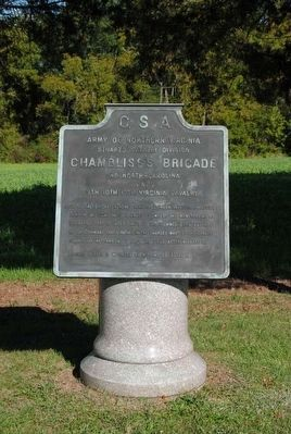 Chambliss's Brigade Marker image. Click for full size.