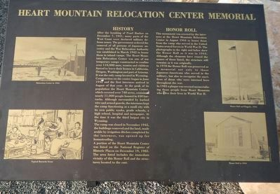 Heart Mountain Relocation Center Memorial Marker image. Click for full size.