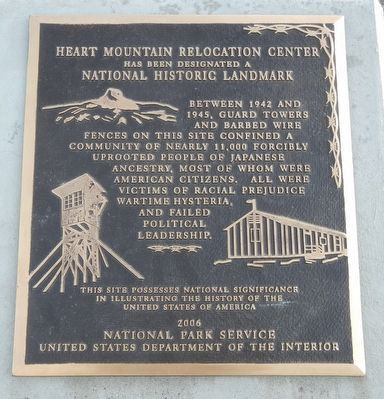 Heart Mountain Relocation Center image. Click for full size.