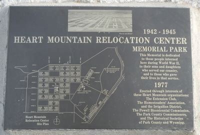 Heart Mountain Relocation Center Memorial Park image. Click for full size.