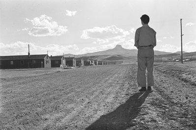 Heart Mountain Relocation Center and Heart Mountain image. Click for full size.