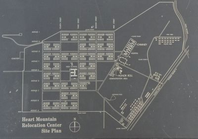 Diagram of Heart Mountain Relocation Center image. Click for full size.