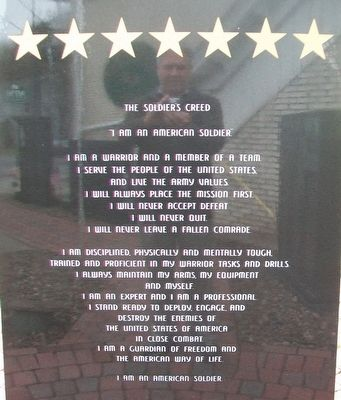 <i>The Soldier&#39;s Creed</i> on SSG Ryan S. Ostrom Monument image. Click for full size.