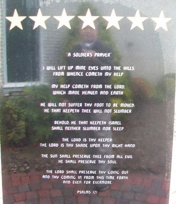 "<i>""A Soldier&#39;s Prayer""</i> on SSG Ryan S. Ostrom Monument image. Click for full size."