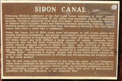 Sidon Canal Marker image. Click for full size.