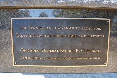 Tennessee Monument Marker- Left image. Click for full size.