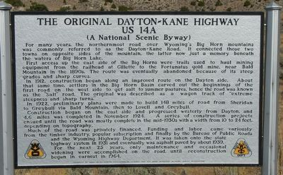 The Original Dayton-Kane Highway Marker image. Click for full size.