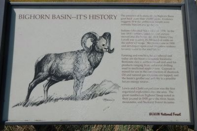 Bighorn Basin -- It's History Marker image. Click for full size.