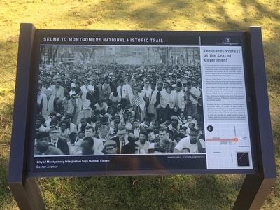 Thousands Protest at the Seat of Government Marker image. Click for full size.