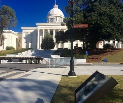 View of marker looking towards State Capitol. image. Click for full size.
