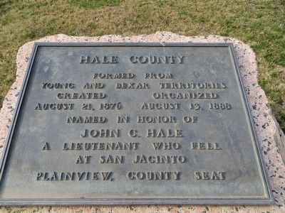 Hale County Marker image. Click for full size.