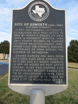 Site of Epworth Marker image. Click for full size.