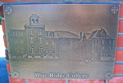 Blue Ridge College Image on Bell Monument image. Click for full size.