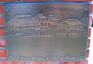 Union Bridge Cement Plant on Blue Ridge College Bell Monument image. Click for full size.