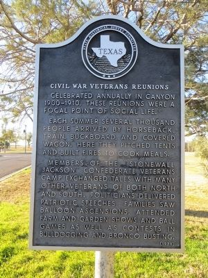 Civil War Veterans Reunions Marker image. Click for full size.
