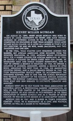 Henry Miller Morgan Marker image. Click for full size.