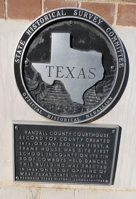Randall County Courthouse Marker image. Click for full size.