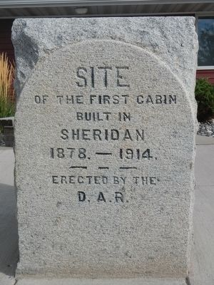 First Cabin in Sheridan Marker image. Click for full size.