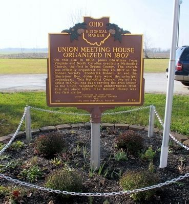Union Meeting House Marker image. Click for full size.