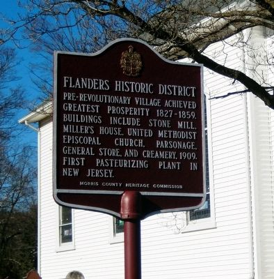 Flanders Historic District Marker image. Click for full size.