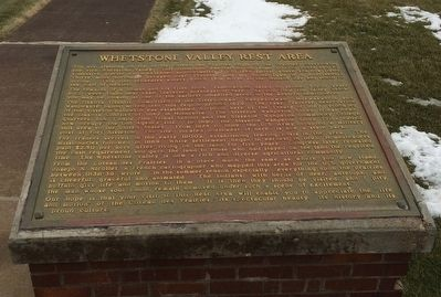 Whetstone Valley Rest Area Marker image. Click for full size.