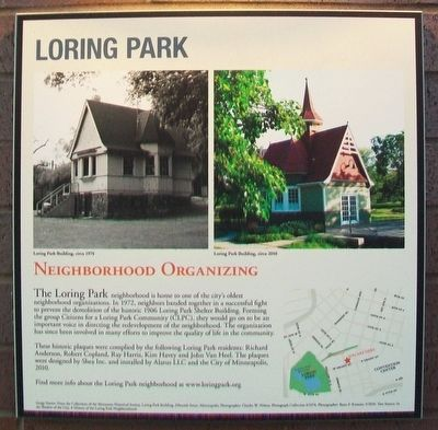 Loring Park: Neighborhood Organizing Marker image. Click for full size.