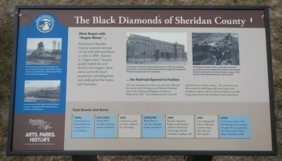 The Black Diamonds of Sheridan County Marker image. Click for full size.