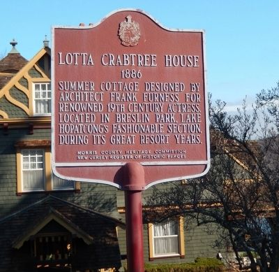 Lotta Crabtree House Marker image. Click for full size.