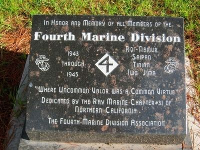 Fourth Marine Division Memorial image. Click for full size.