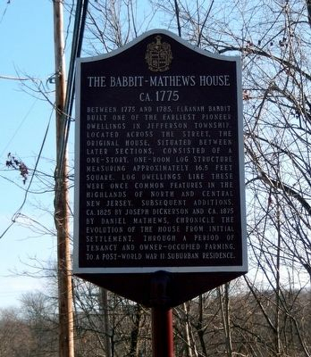 The Babbit-Mathews House Marker image. Click for full size.