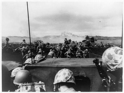 <i>A wave of charging Fourth Division Marines begin an attack...</i> image. Click for full size.
